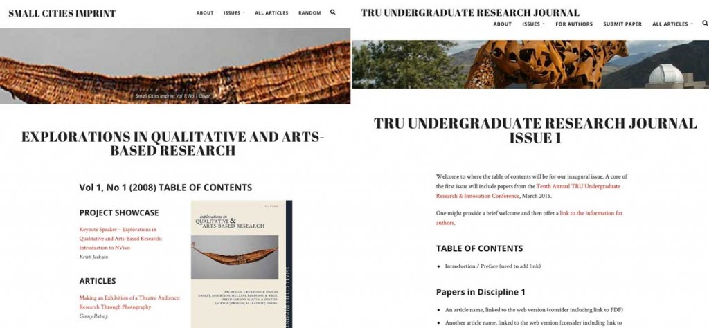 Small Cities Imprint and Undergraduate Research Journal